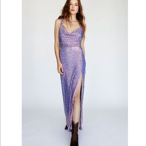 Free People Embellished Sequin Maxi Dress